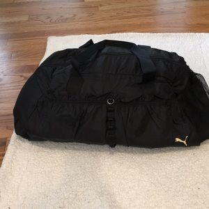 Black Puma workout bag with handles